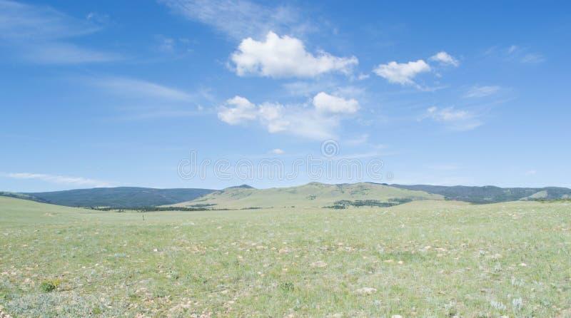 Extensión grande de la pradera de Wyoming foto de archivo