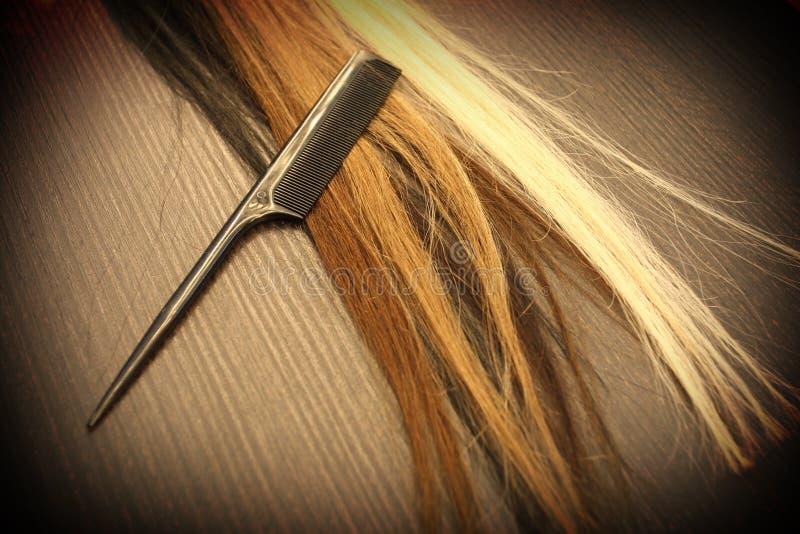 Extension de cheveux images stock