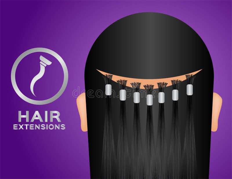 Extensiones vector e icono del cabello humano libre illustration
