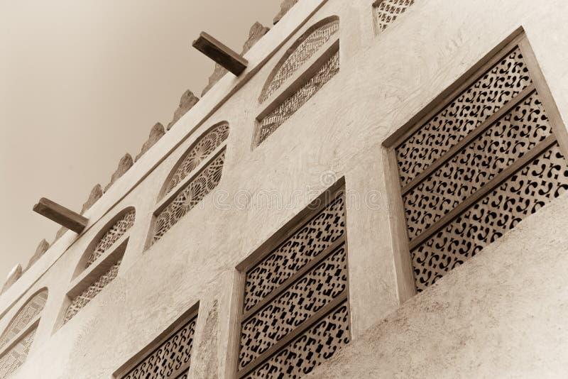 Exterior árabe tradicional da casa fotografia de stock royalty free
