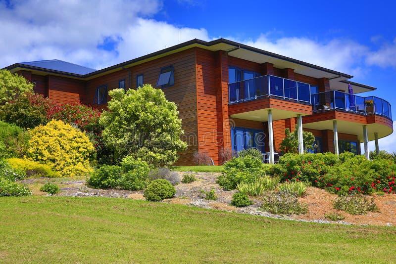 Download Exterior Of Aurora Lodge. Waipu, NZ Stock Image   Image Of  Background,