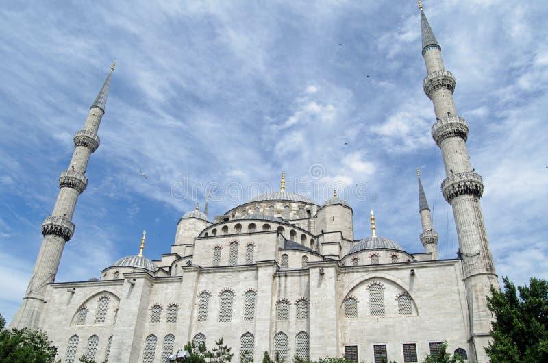 Exterior azul da mesquita, Istambul imagem de stock royalty free