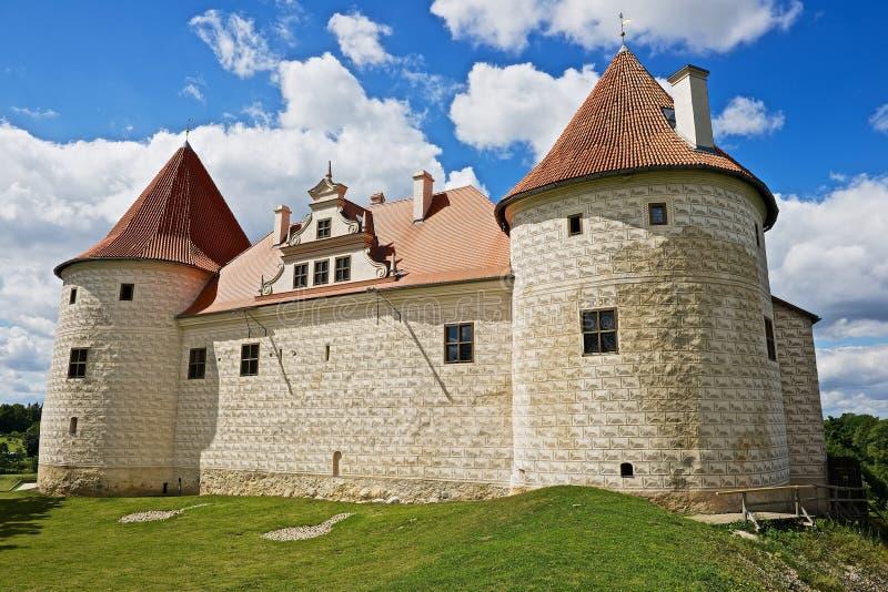 Exterior of the Bauska castle in Bauska, Latvia. BAUSKA, LATVIA - JULY 27, 2015: Exterior of the Bauska castle in Bauska, Latvia stock images