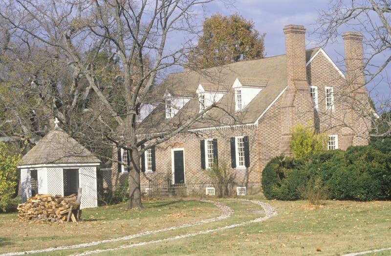 Exterior of birthplace of George Washington stock photos