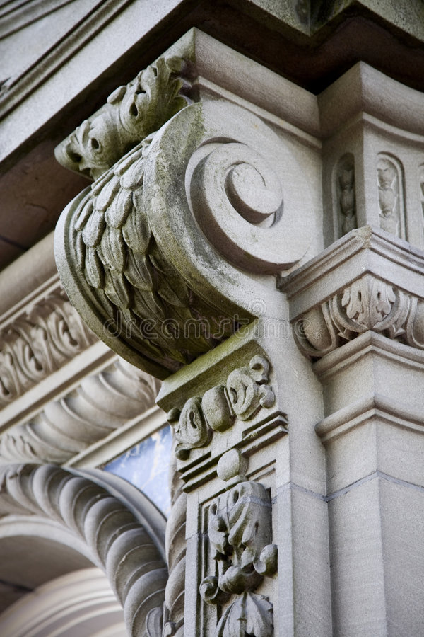 Exterior building detail royalty free stock image