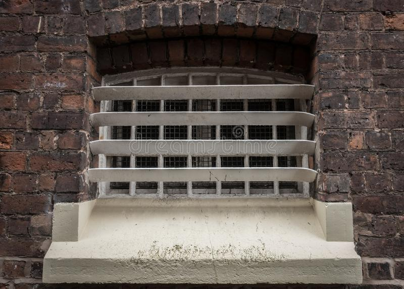 Exterior of cell block in HMP Shrewsbury prison The Dana royalty free stock images