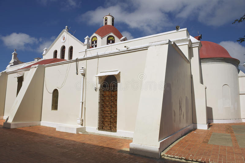 Exterior of the church of Our Lady of Mercedes in Santo Cerro, Dominican Republic. royalty free stock images