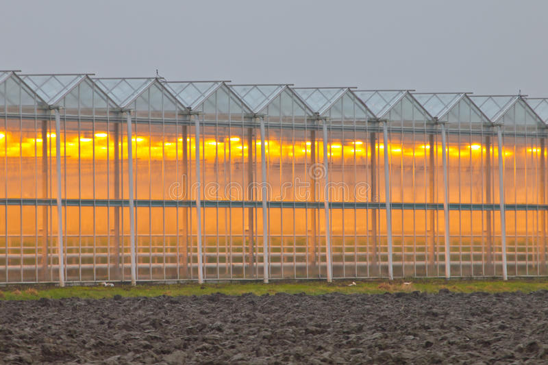 Exterior Of A Commercial Greenhouse Stock Images