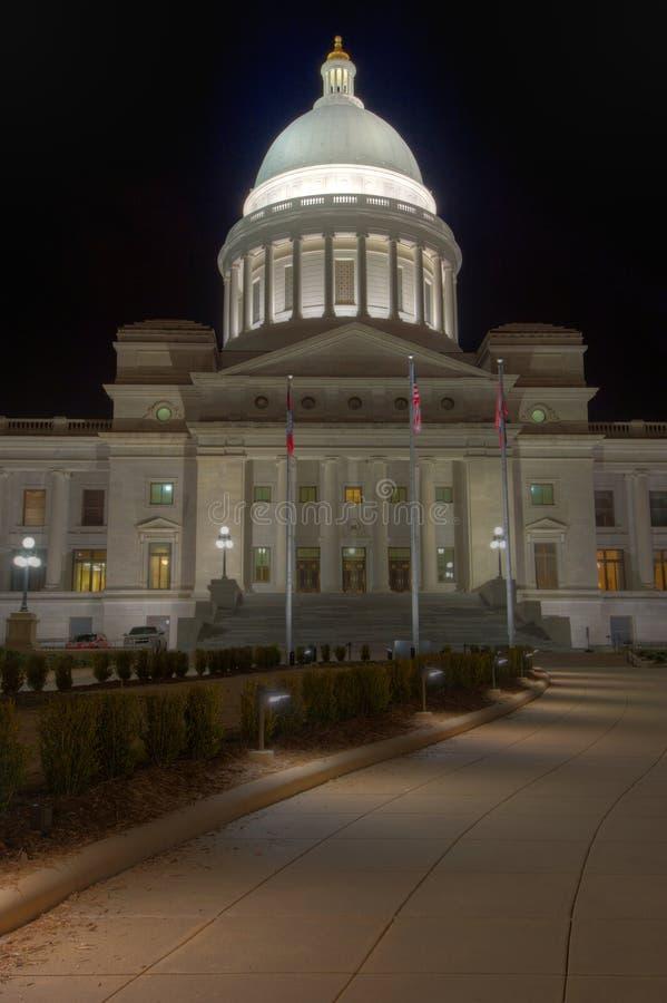Exterior da abóbada do Capitólio do estado de Arkansas foto de stock royalty free