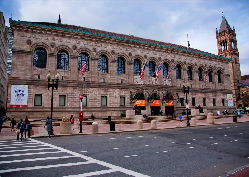 Exterior da biblioteca pública de Boston imagens de stock royalty free