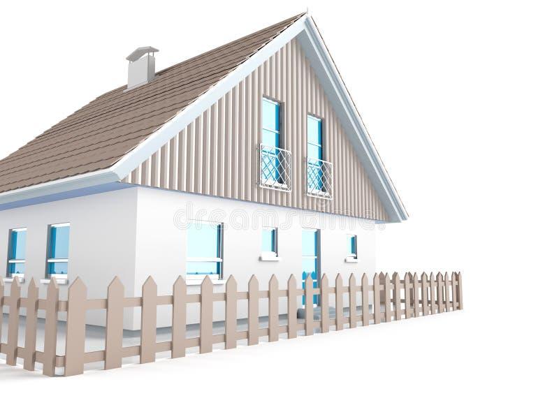 Exterior da casa ilustração do vetor