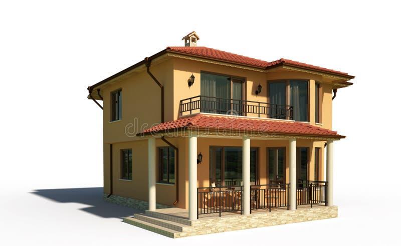 Exterior da casa da casa de campo ilustração royalty free