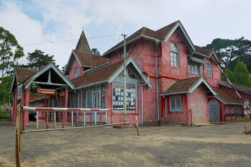 Exterior da construção da estação de correios em Nuwara Eliya, Sri Lanka imagens de stock