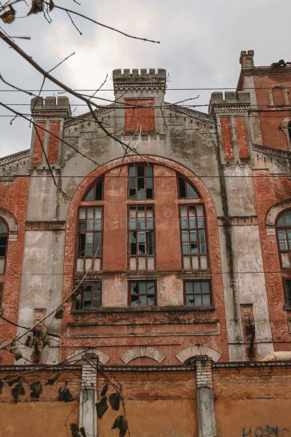 Exterior da fábrica velha imagem de stock royalty free