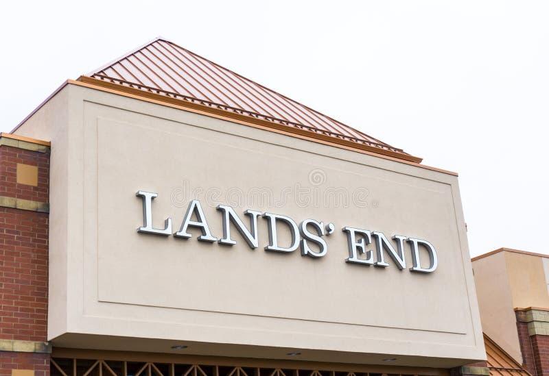 Exterior da loja do Land's End foto de stock
