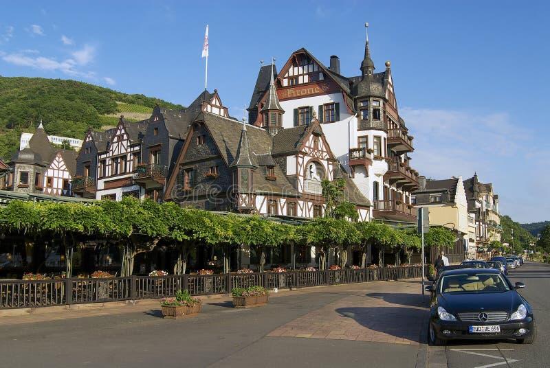 Exterior das construções tradicionais em Rudesheim am Rhein, Alemanha fotografia de stock royalty free