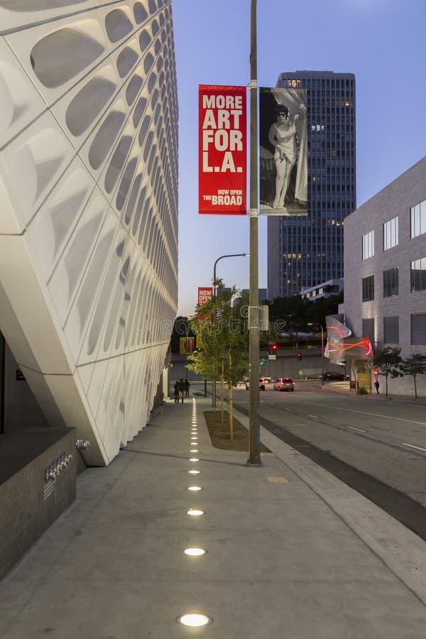 Exterior de Art Museum contemporâneo largo fotografia de stock royalty free
