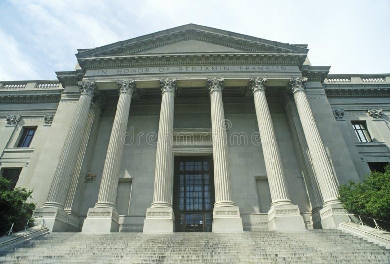 Exterior de Benjamin Franklin Institute, Philadelphfia, PA foto de stock royalty free