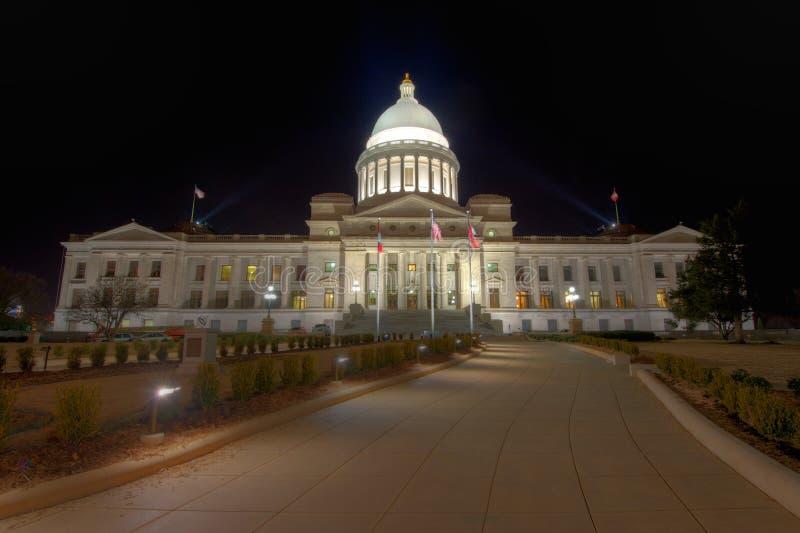Exterior de construção do Capitólio do estado de Arkansas foto de stock