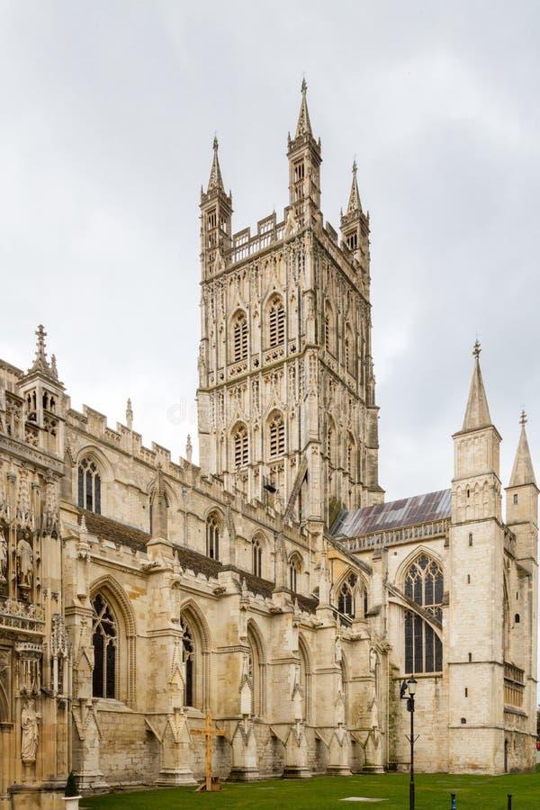 Exterior de la catedral de Gloucester fotos de archivo libres de regalías