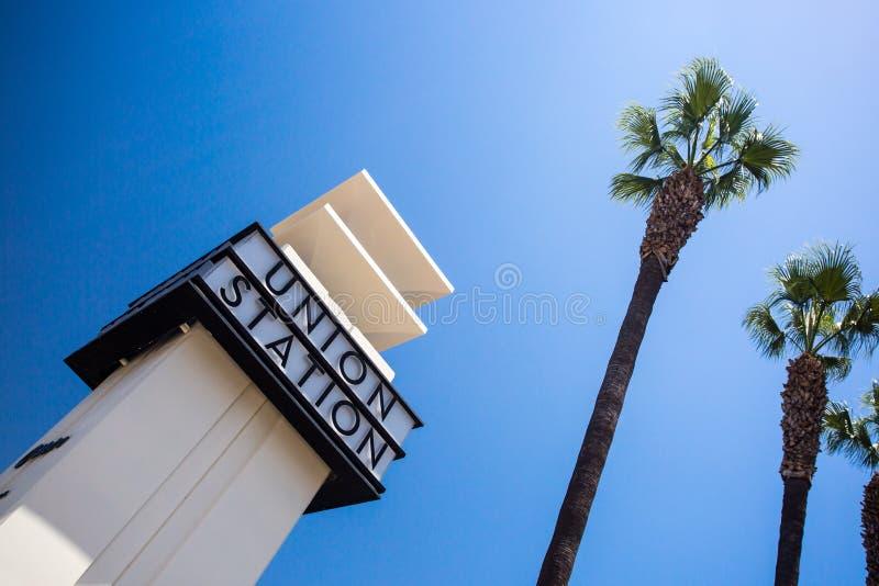 Exterior de la estación de la unión de Los Ángeles fotografía de archivo libre de regalías