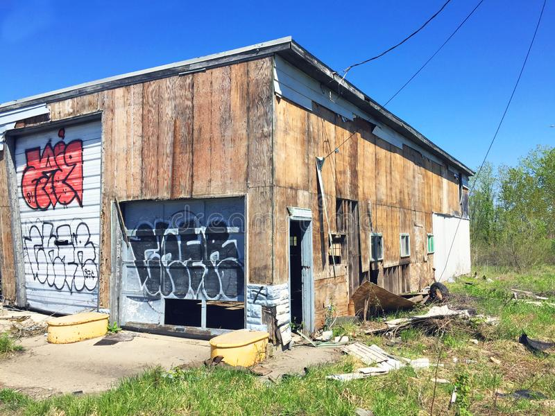 Exterior 1 de la gasolinera de Missouri fotos de archivo