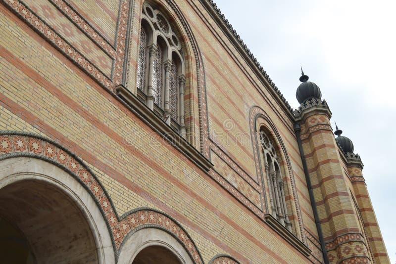 Exterior de la gran sinagoga central en Budapest el 31 de diciembre de 2017 imagen de archivo libre de regalías