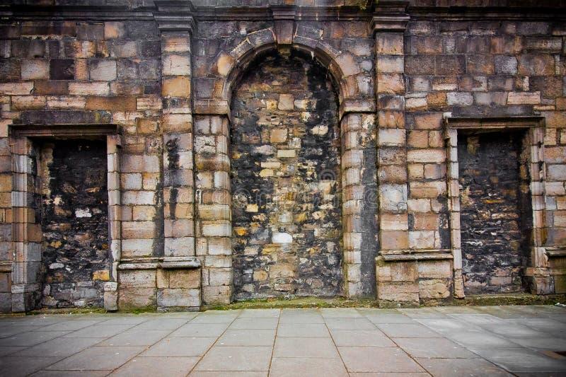 Exterior de la pared del castillo imagen de archivo