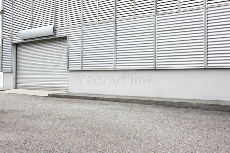 Exterior de la unidad industrial de Warehouse foto de archivo