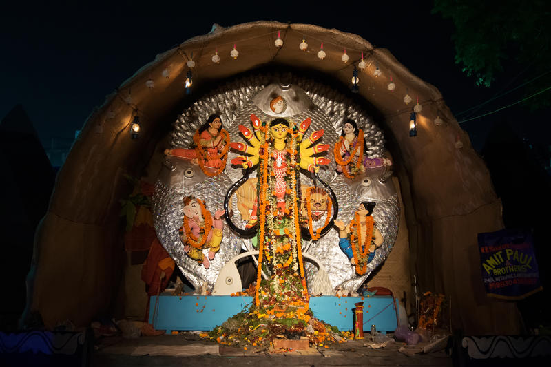 Exterior of decorated durga puja pandal at kolkata west bengal download exterior of decorated durga puja pandal at kolkata west bengal india altavistaventures Gallery