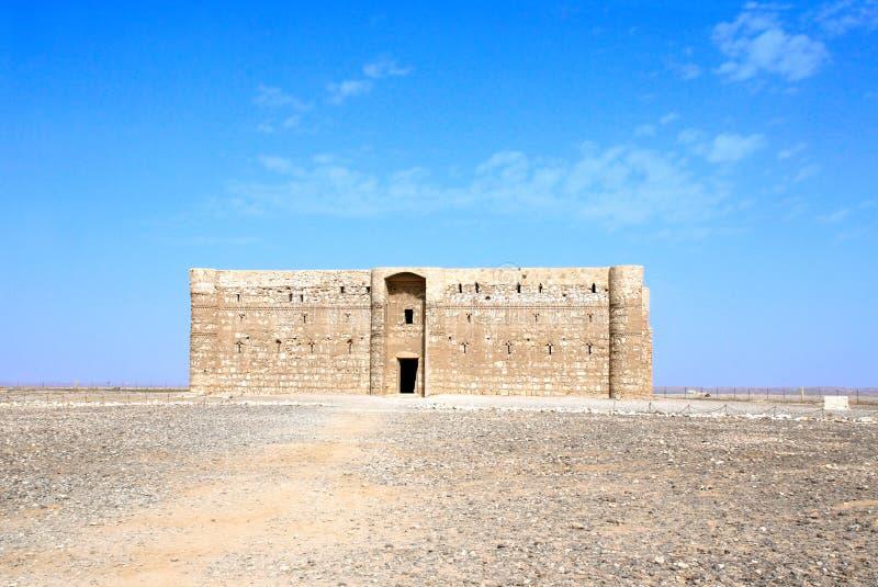 Exterior del al-Harrana de Qasr del castillo del desierto, Amman, Jordania fotos de archivo libres de regalías