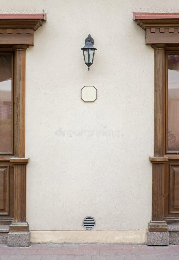 Exterior del café, fondo de la pared del estuco imágenes de archivo libres de regalías