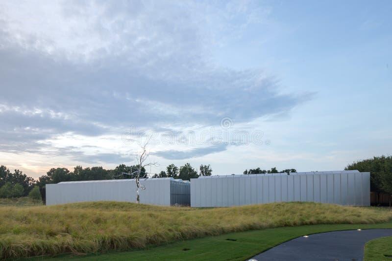 Exterior del crepúsculo de Carolina Museum del norte del arte fotos de archivo