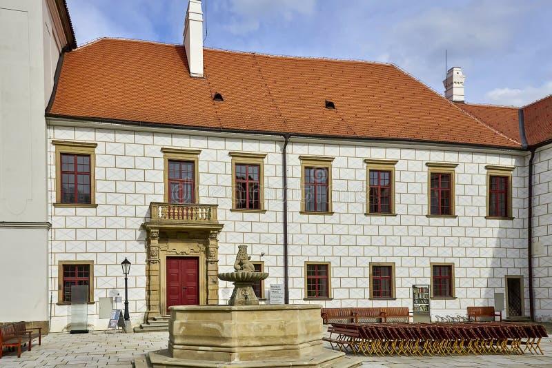 Exterior del detalle del castillo Trebic, sitio de la UNESCO imagen de archivo libre de regalías