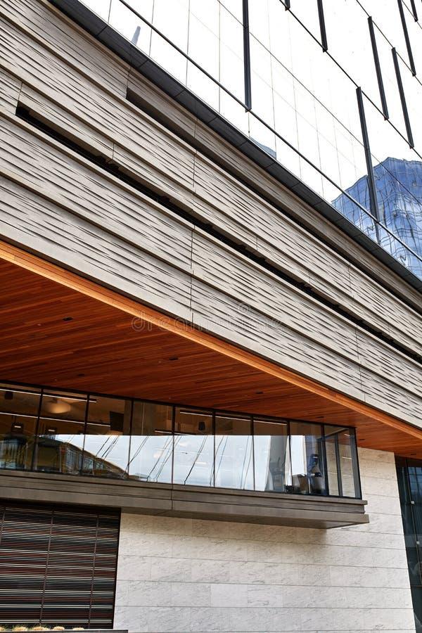 Exterior del edificio moderno en Denver c?ntrica, Colorado imágenes de archivo libres de regalías