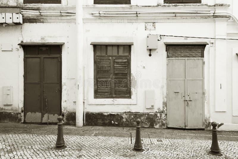 Exterior del edificio viejo en Macao, China imágenes de archivo libres de regalías
