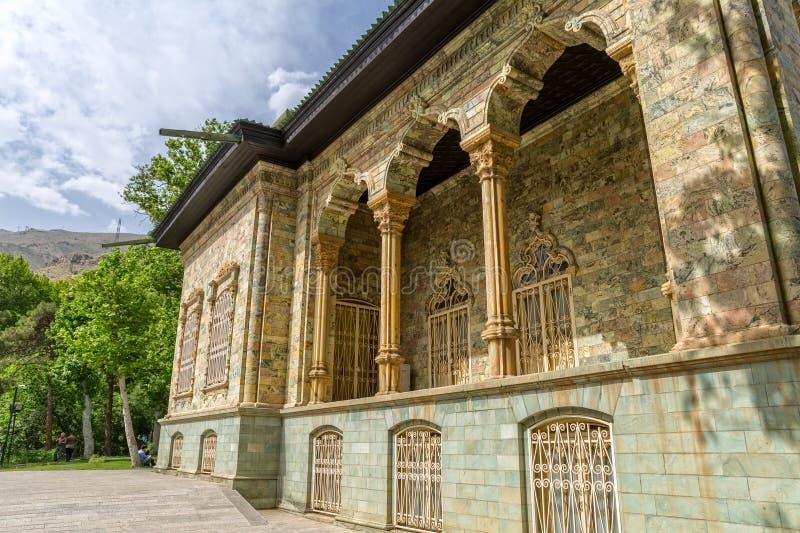 Exterior del palacio de Saadabad foto de archivo libre de regalías