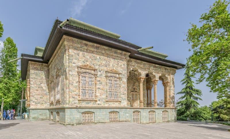 Exterior del palacio de Saadabad del oeste fotos de archivo libres de regalías
