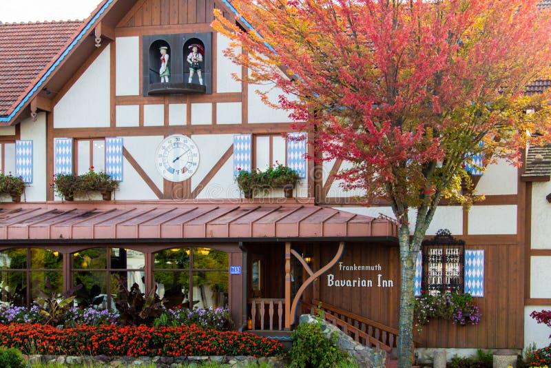 Exterior Del Restaurante Francés Alemán Barvarian Inn fotos de archivo libres de regalías