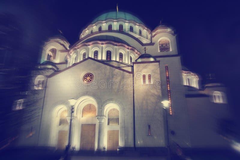 Exterior del santo Sava Church en Belgrado, Serbia foto de archivo