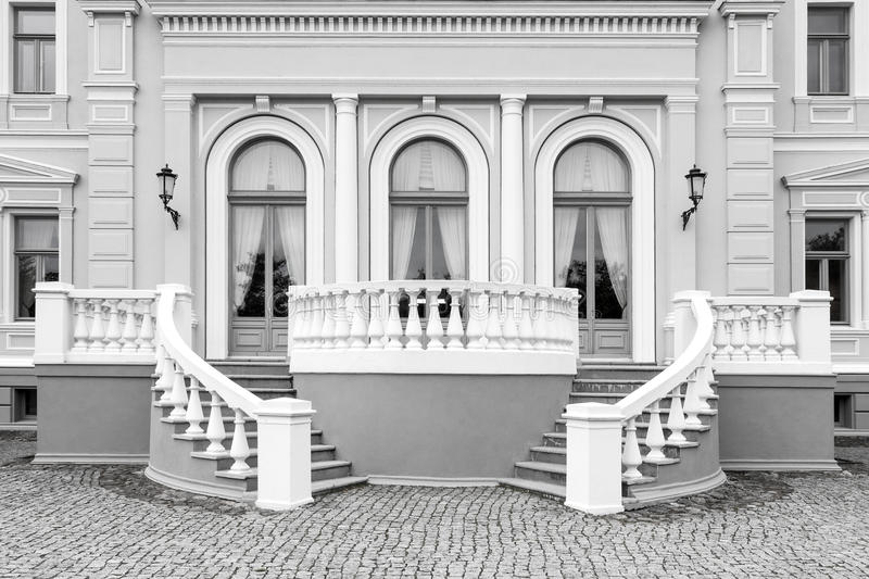 Exterior detail of neo renaissance building royalty free stock images