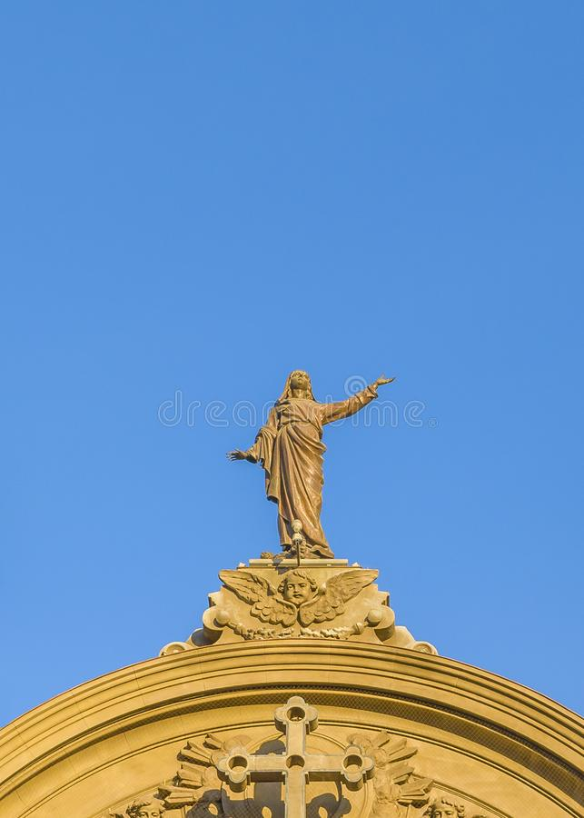 Metropolitan Cathedral, Armas Square, Santiago de Chile royalty free stock images