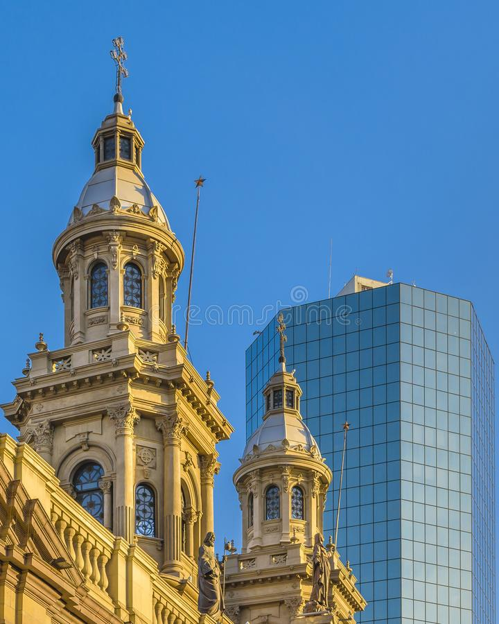 Metropolitan Cathedral, Armas Square, Santiago de Chile royalty free stock photo