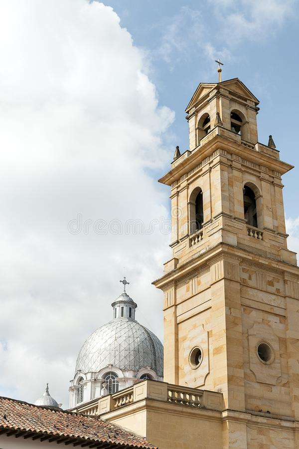 Exterior Details of Basilica of Our Lady of the Rosary in Chiquinquirá - Colombia stock image