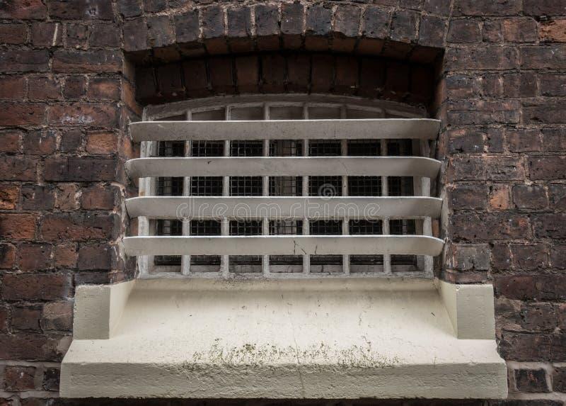 Exterior do bloco de pilha na prisão de HMP Shrewsbury a Dana imagens de stock royalty free