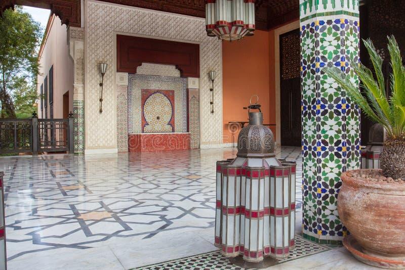 Exterior do La Mamounia Marrakkech do hotel e do casino da construção fotografia de stock royalty free
