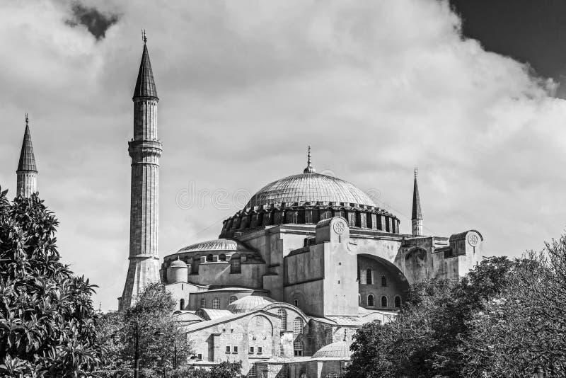 Exterior do museu de Hagia Sophia em Istambul fotografia de stock