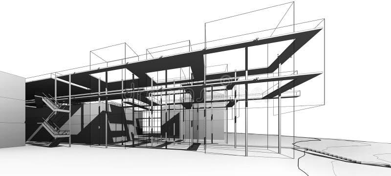 Exterior do museu na academia nacional das belas artes e da arquitetura (projeto do conceito) ilustração royalty free