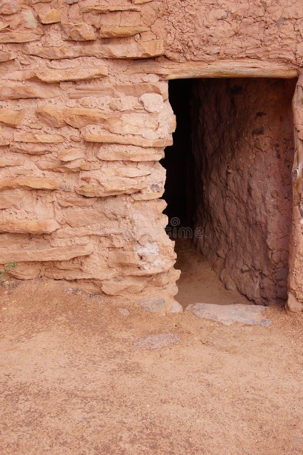 Exterior do povoado indígeno de Anasazi imagens de stock