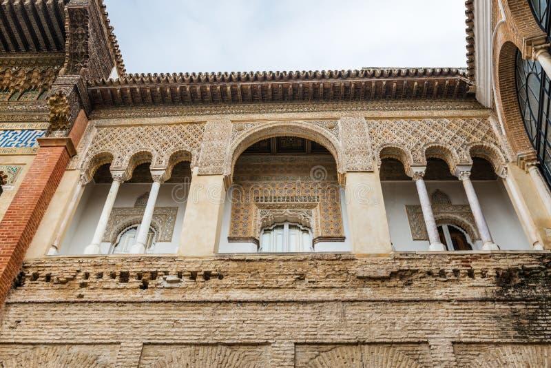 Exterior facade of Patio de la Monteria courtyard stock photos